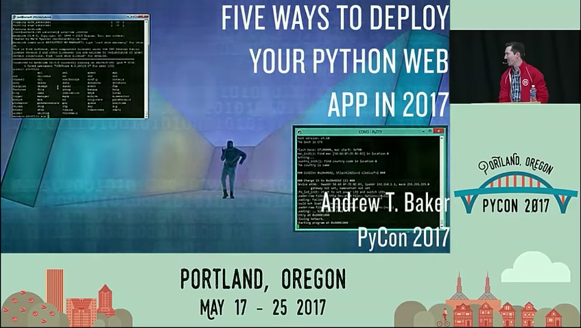 Andrew T Baker presenting at PyCon 2017.