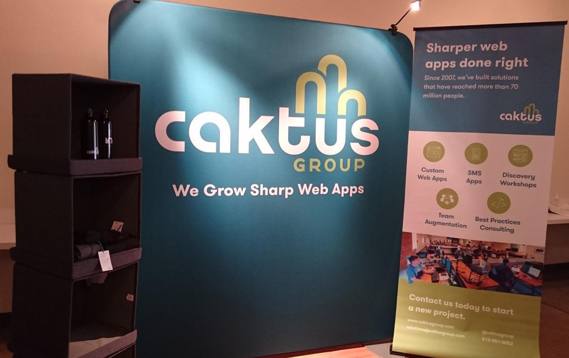 The Caktus booth for PyCon 2017.