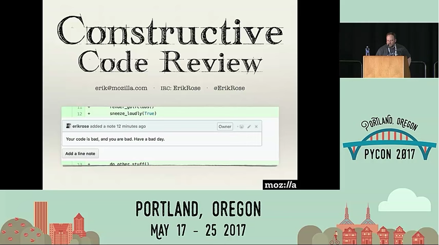 Erik Rose's talk on constructive code reviews.