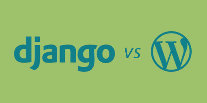 django vs wordpress logos