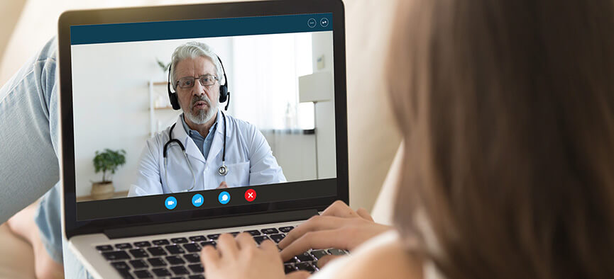 Patient on telemed visit with doctor