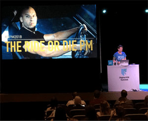 Image of presentation from the Digital PM Summit