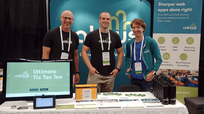Caktus booth at PyCon 2018
