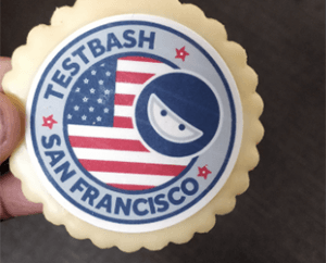 Cookie with the Test Bash logo