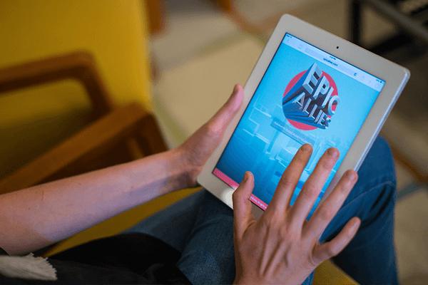 QA testing a mobile web app.