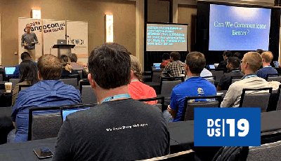 DjangoCon 2019: Django Fellow Carlton Gibson giving his talk