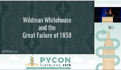 Screenshot of Lilly Ryan's title page from her presentation at PyCon.