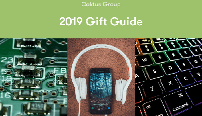 Techie Gift Guide - Image of circuit board, headphones, smart phone, and keyboard.
